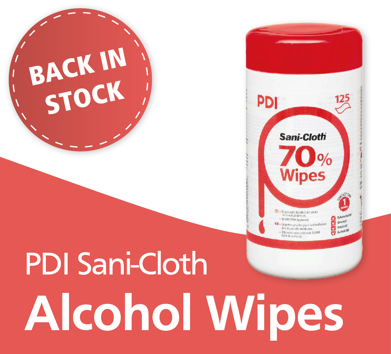 PDI Sani-Cloth Alcohol Wipes