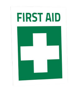 First-aid-adhesive-label